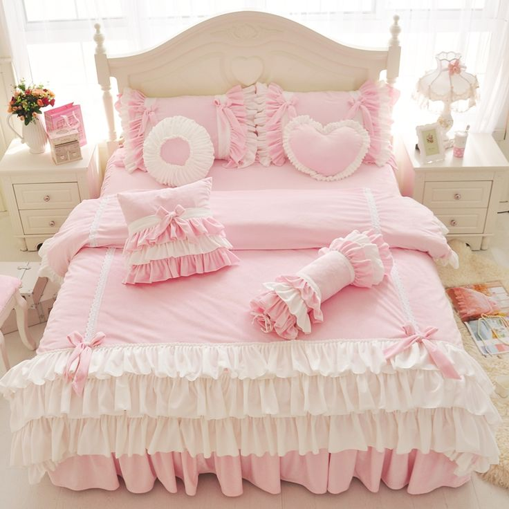 285 best ruffle princess bedding set images on pinterest for Super cheap bedroom sets