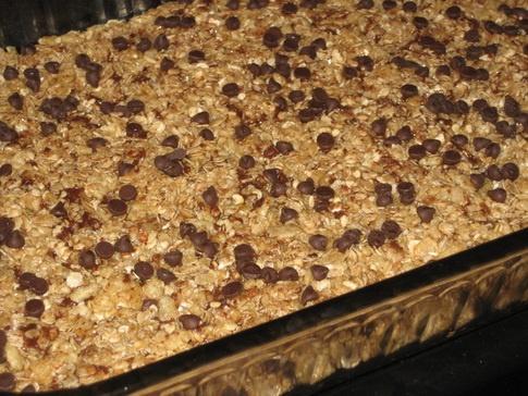 Chocolate Chip Granola Bars (no bake!)