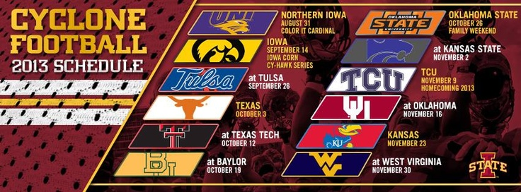 Make your new cover photo the Cyclone Football schedule