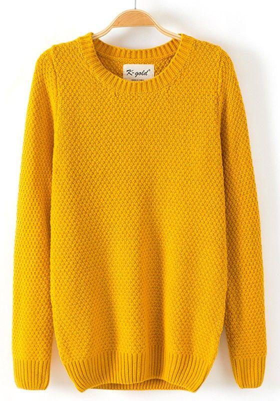 cozy mustard pullover sweater