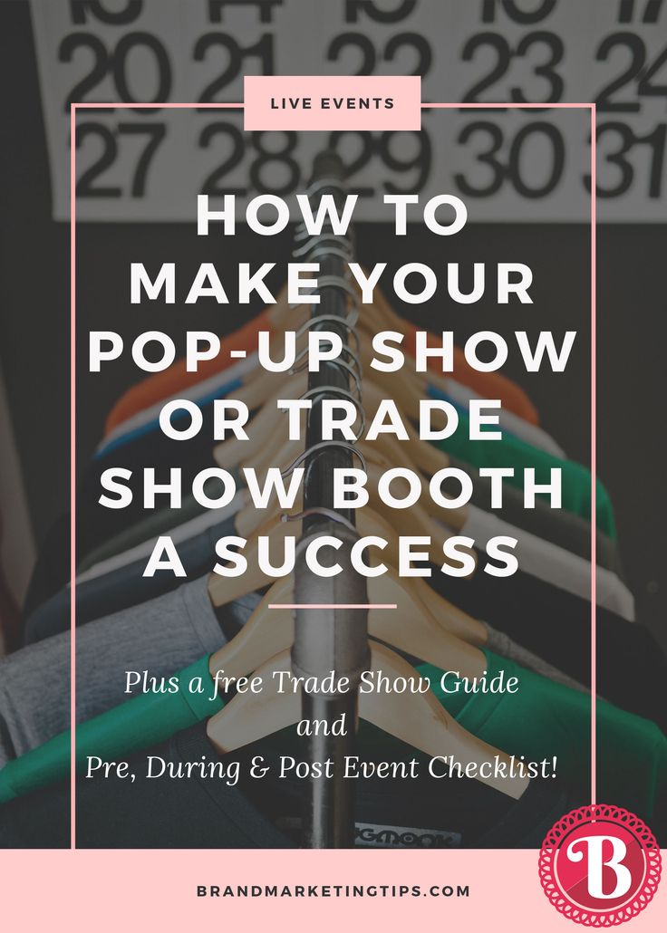 Exhibiting at a trade show, conference, or pop-up show is a great way to promote your product to a targeted audience and interact with your customers. Plus, grab our free Trade Show Guide and Event Checklist!