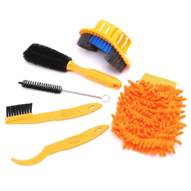7.90$  Buy now - http://alih9r.shopchina.info/go.php?t=32794863485 - 6 pcs/lot Bicycle Chain Cleaner Cycling Clean Tire Brushes Tool Kits set Mountain Road Bike Cleaning Gloves Bicycle Cleaing Kits 7.90$ #magazine
