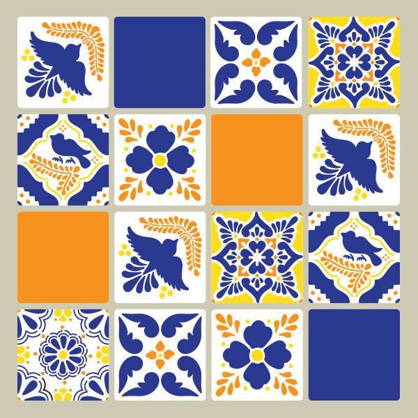 Мексиканская Талавера плитки стены и мебель Шаблоны | Королевский дизайн-студия
