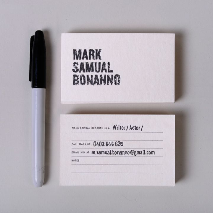 40 best simple text based business card designs images on pinterest we recently ran a small branding exercise for this young writeractor mark is a multi talented man and not one to limit himself or his creative business colourmoves