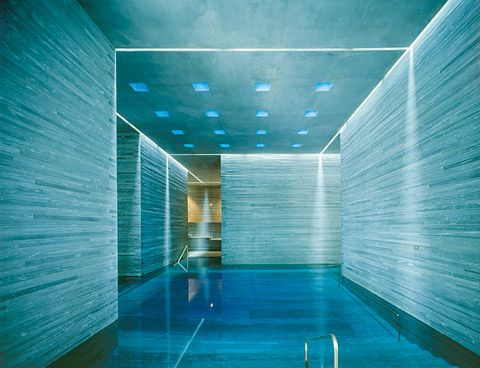 Peter Zumthor. Thermal baths at Vals.