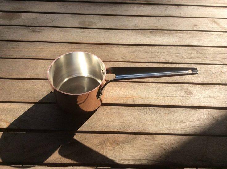 Lille kobberkasserolle fra Georg Jensen. Som ny. 400 kr.