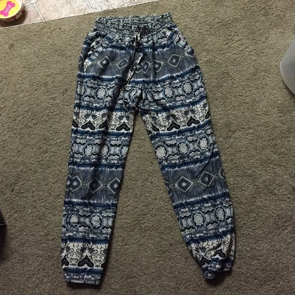 Patterned Joggers Dressy joggers for women. Both hardly worn. In great condition. Smoke free home. $6 each or both for $10. Size S for both. Pants Track Pants & Joggers