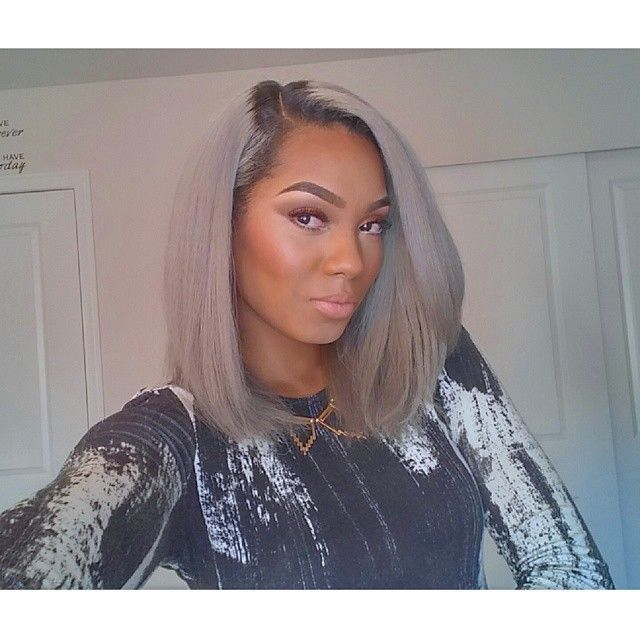 Hairstyles For Straight Relaxed Hair : Straight hair grey black maroon white relaxed