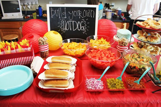 Build your own hotdog bar