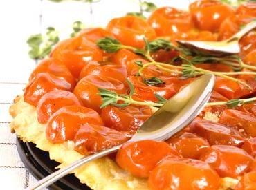 Tarte Tatin à la tomate, au chèvre et au thym | Carrefour