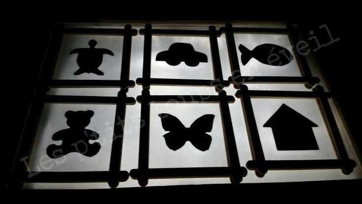 Les formes sur la table lumineuse