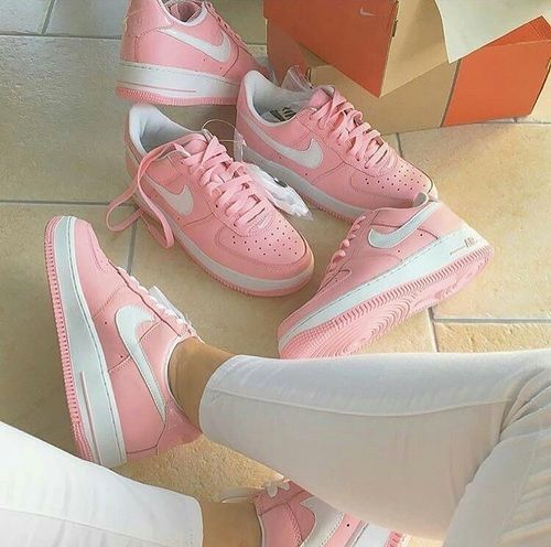 air force one, nike, and pastel pink image