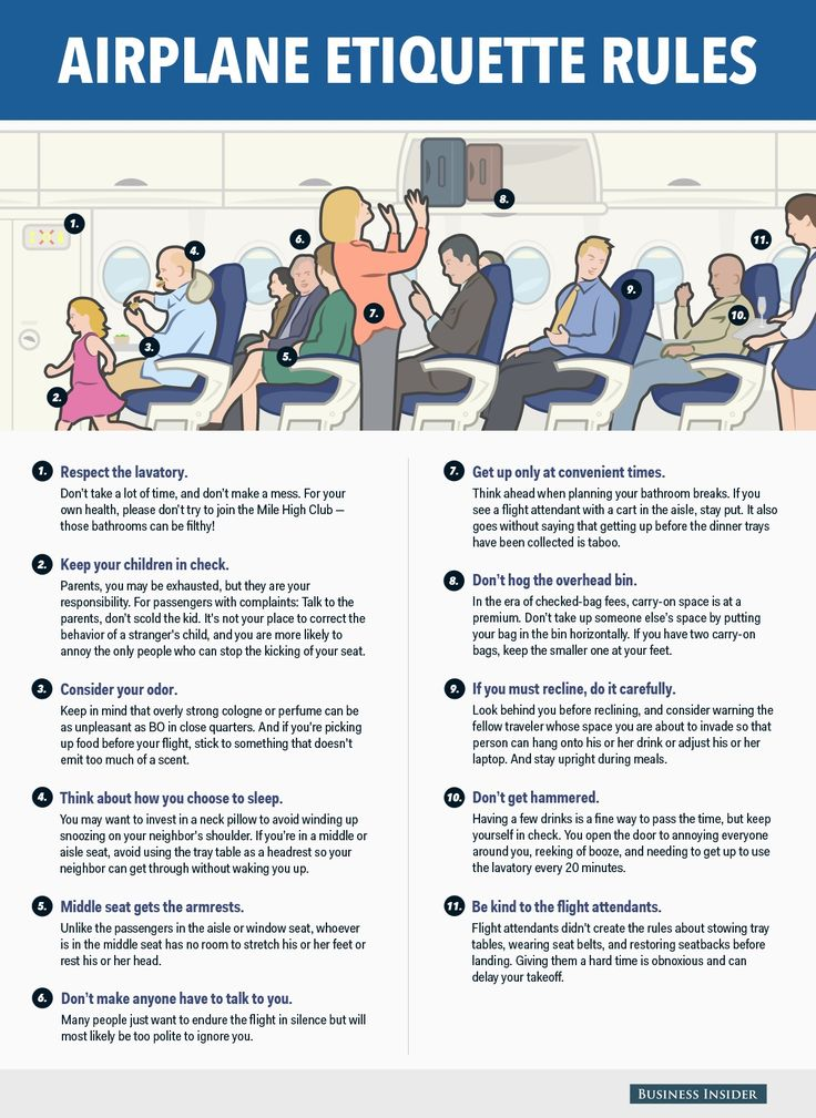 airplane travel etiquette infographic