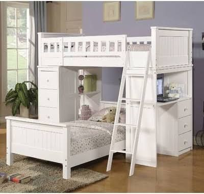 Full Loft Bed With Dresser Underneath Kids Rooms Pinterest