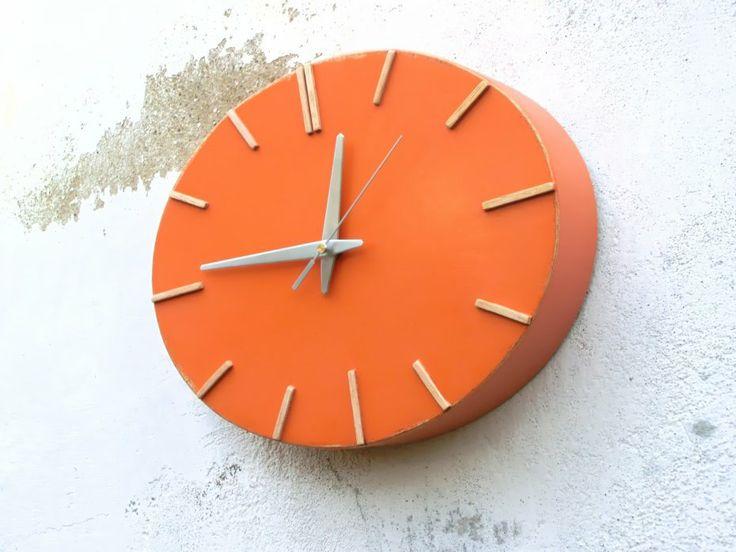 Die besten 25+ Orange wanduhren Ideen auf Pinterest 50er deko - wanduhren modern