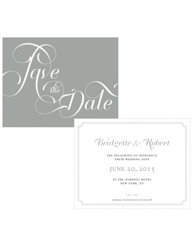 Expressions Wedding Save the Date www.mybridalsupply.com