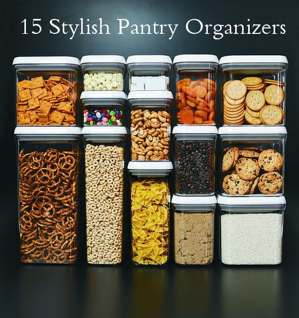 Lots of good storage and organization ideas on this site. I like the containers pictured because I already have a lot of them!