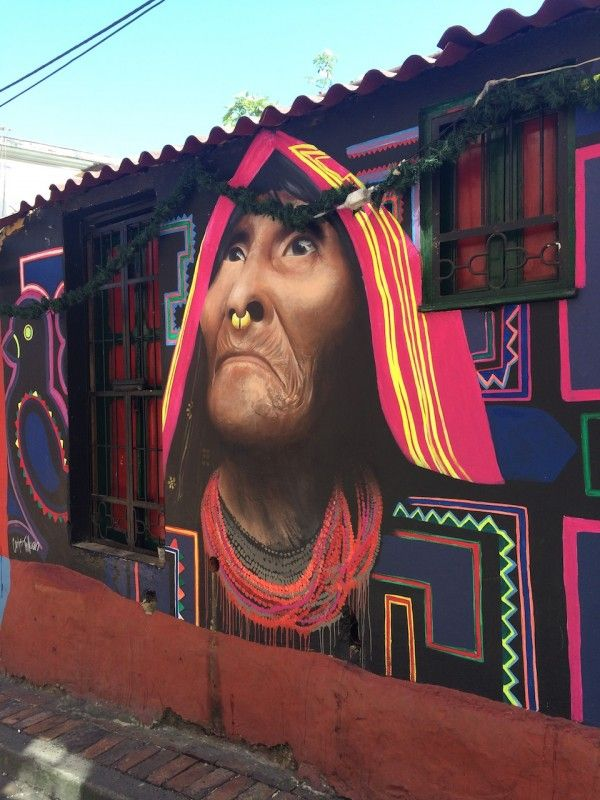 At Chorro de Quevedo in Bogotá, Colombia