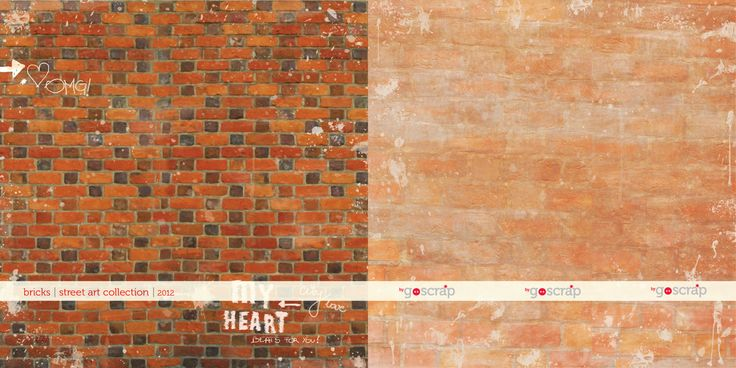 #scrapbooking paper bricks - streetart collection by GOscrap