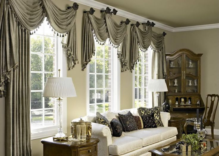 Etonnant Curtains For Living Rooms With Large Windows | Ideas For Bay Windows With  Eye Catching Living Room In Grey Curtains ... | For The Home | Pinterest |  Bay ...