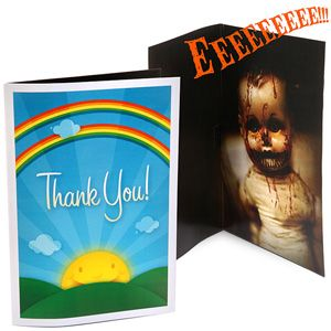 Scary Sound Greeting Card Attack--I know a few people who will be getting this in the mail!
