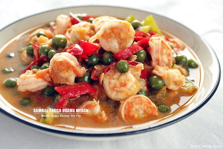 Sambal Tauco Udang Medan – Medan Spicy Shrimp Stir Fry...Special Food from Medan North Sumatra