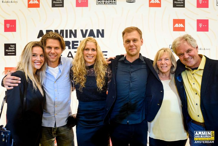 Armin Van Buuren his wife Erika Van Thiel, his parents and his brother Eller Van Buuren and his gf at Van Gogh Museum