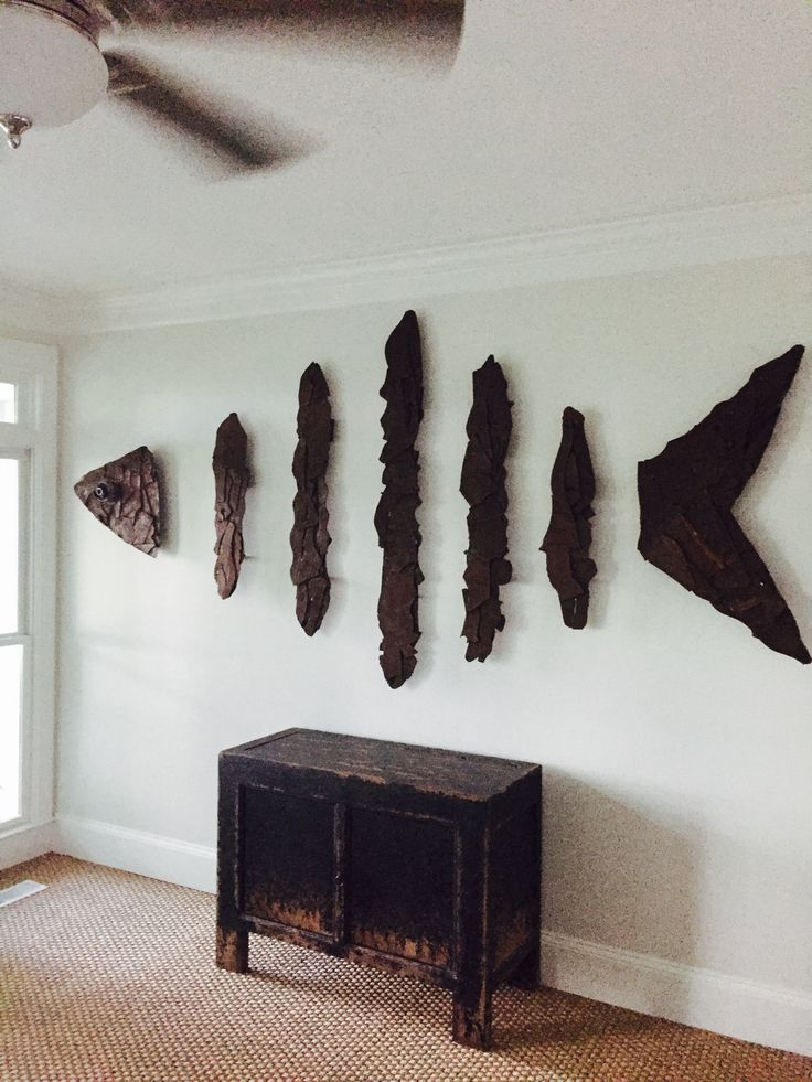 Custom hand crafted Bone Fish sculpture designed and created by coastal sculptor Chase Allen of The Iron Fish Gallery & Studio found on Daufuskie Island, SC  measurements: 10' x 5.5' - $2950