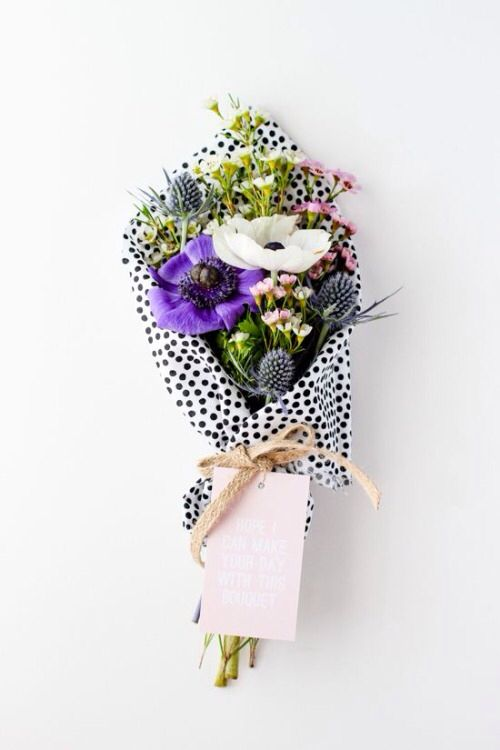 Pretty flowers and pretty paper