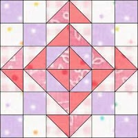 Quilt Gems pink and purple