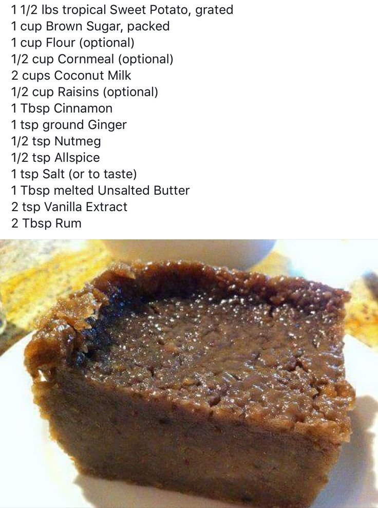 Jamaican sweet potato pudding …