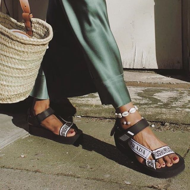 "Thanks to #Prada, sporty ""dad sandals"" will be everywhere come ..."