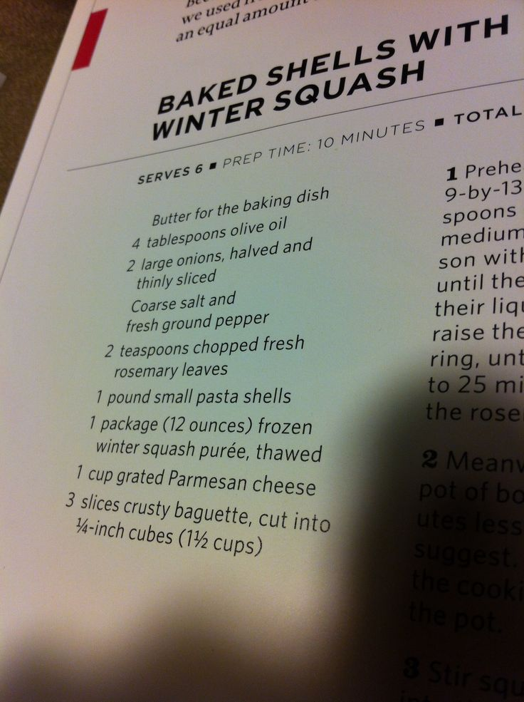 Winter Squash w/ shell pasta