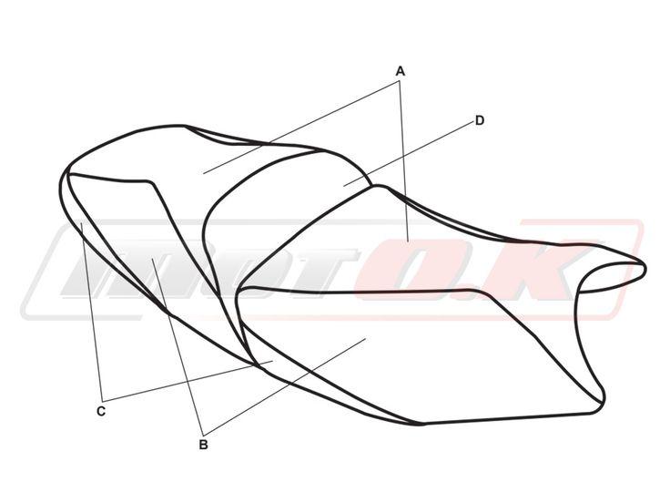 Seat covers for Suzuki Bandit GSX 650/1200/1250 (05-09