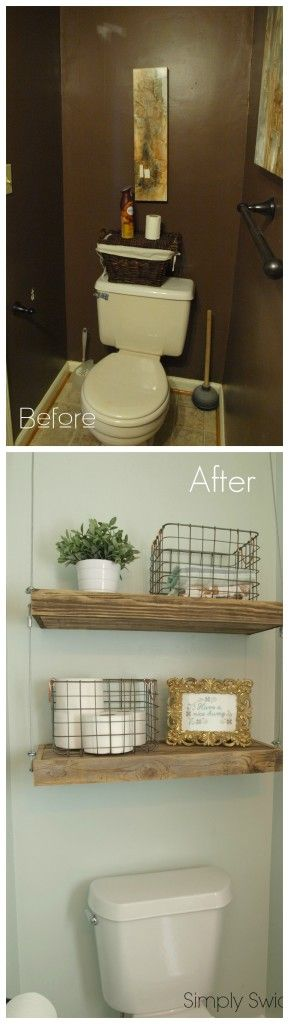 Industrial Chic Bathroom Makeover