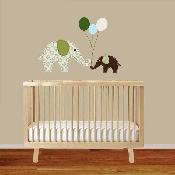 Childrens Wall Decals Elephants Balloon vinyl by wallartdesign, $29.99