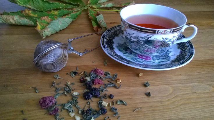 Świat z piernika: Owocowa herbata na pożegnanie lata