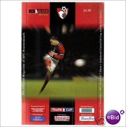 Bournemouth v Southend United 17/12/2002 FA Cup Football Programme Sale