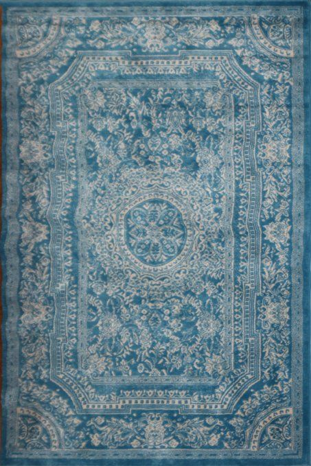 Amazon.com - Light Blue Traditional French Floral Wool Persian Area Rugs 7'10 x 10'5 - Machine Made Rugs