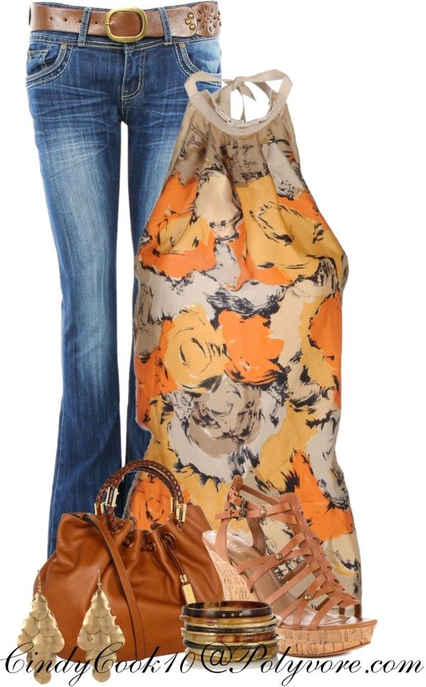 """Jeans and Halter Top"" by cindycook10 on Polyvore"