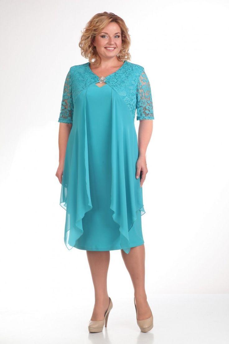 Прити М-236 Платье изумруд Размеры: 56 58 60 62 64 66