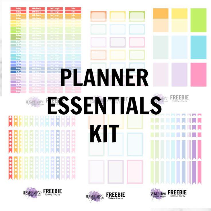 2017 Planner Addict Tag + Planner Essentials FREEBIE! - jennibearrxo