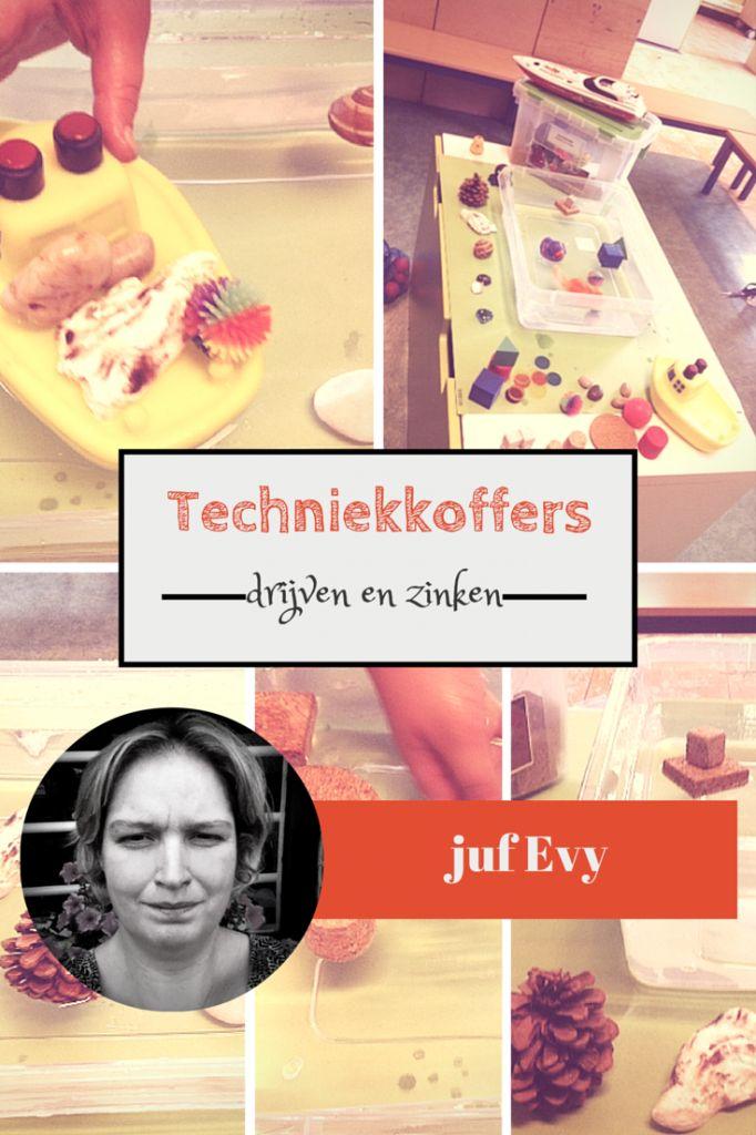 In deze serie vertelt juf Evy hoe ze met techniek met kleuters werkt. Ze werkt met techniekkoffers, vandaag heeft ze het over drijven en zinken. - Lespakket