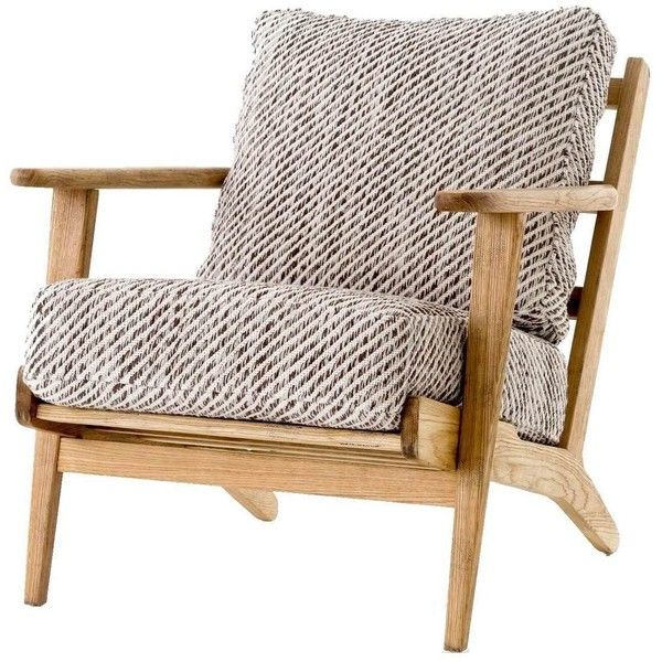 Mid-Century Modern Oak Brooks Kilim Lounge Chair ($1,035) ❤ liked on Polyvore featuring home, furniture, chairs, accent chairs, oak chairs, oak furniture, mid century accent chair, patterned accent chairs and midcentury modern chair