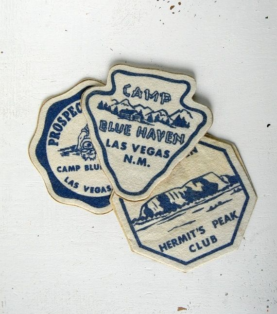 3 vintage camp patches by noodleandlouvintage on Etsy
