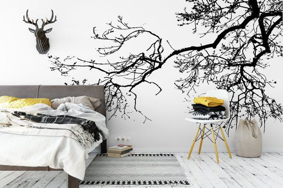 Woodland Trees Removable Wallpaper Nursery Wallpaper Enchanted Forest Peel And Stick Wallpaper Nature Temporary Wallpaper 509 Tree Removable Wallpaper Removable Wallpaper Nursery Removable Wallpaper