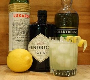 Hendrick's Gin, Chartreuse, and Luxardo Maraschino Liqueur - a match made for a glass!