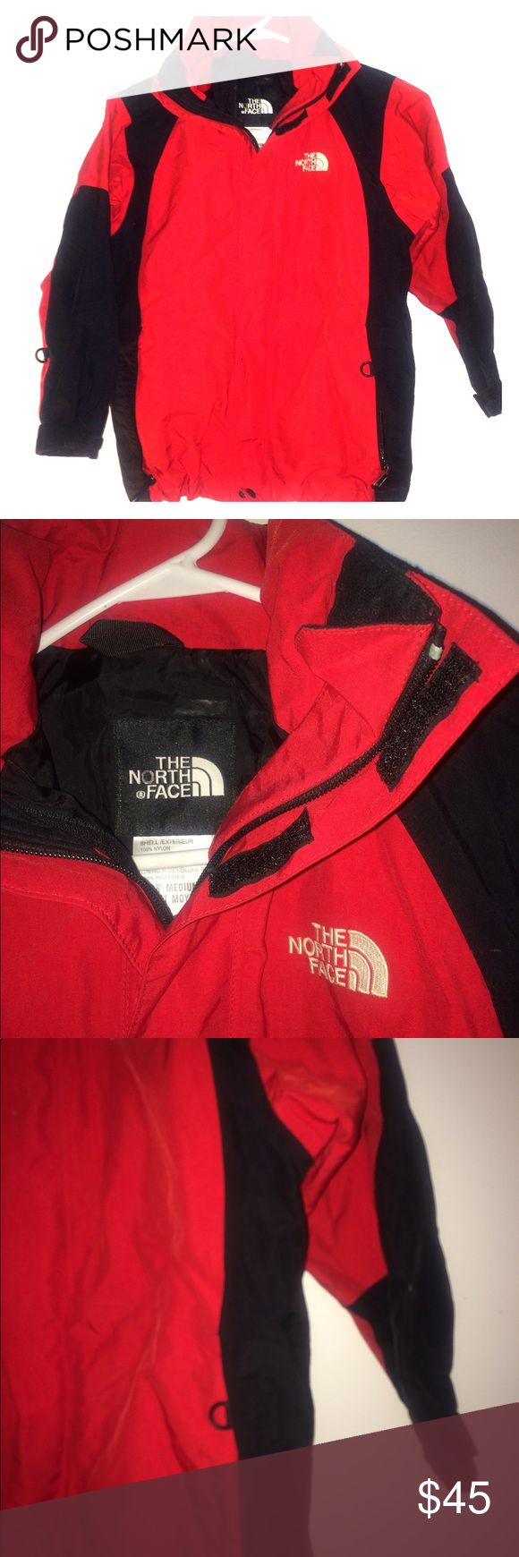 The Northface Kids Cadet Moyens jacket 100%Auth. , no holes,no stains, good condition, zipper at front , hood attached, inside pocket ,embroidery in front & back , Shell: 100%nylon The North Face Jackets & Coats