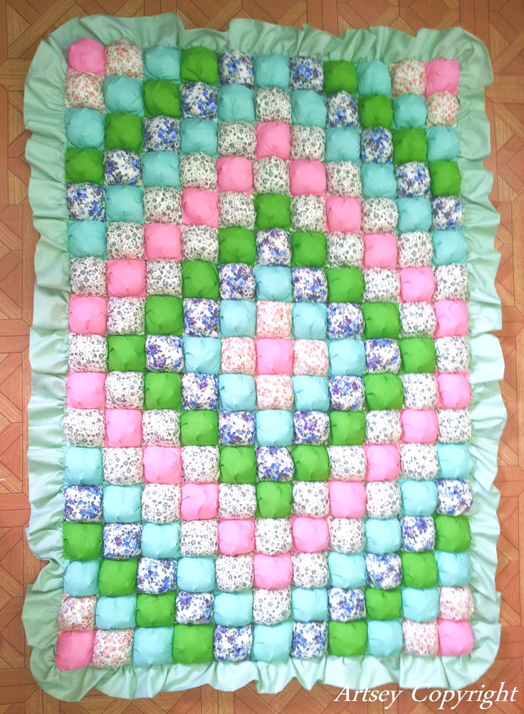 My latest biscuit quilt / bubble quilt / puff quilt