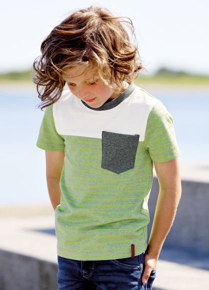 Jersey grey with green neon stripe - great for childrens wear - DIY tops and pants.